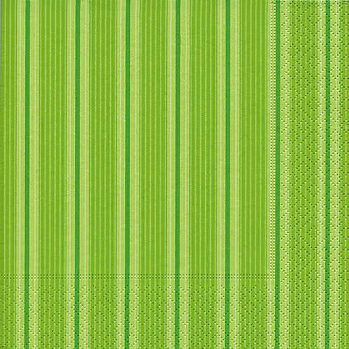 Partytischdecke.de | Servietten 25x25 Unique stripes green 20 Stück