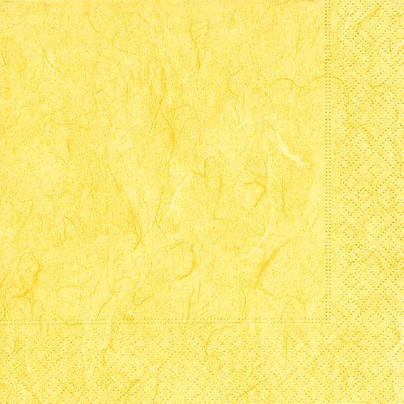 Servietten 33x33 Pure yellow 20 Stück