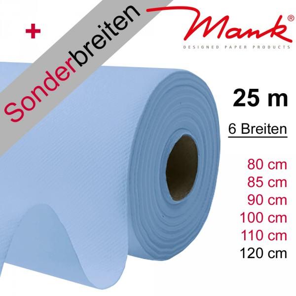 Partytischdecke.de | Tischdecke Mank Linclass hellbau 25 m x Breite