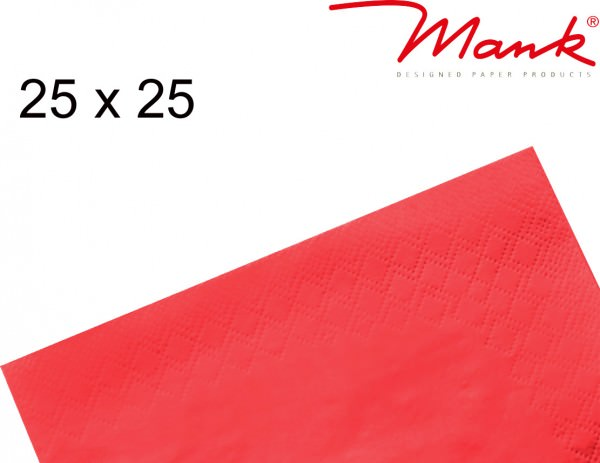 Partytischdecke.de | Serviette Mank 25x25 Tissue rot