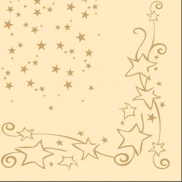 Partytischdecke.de | Mank Servietten Linclass 40x40 Glitter Creme 50 Stück