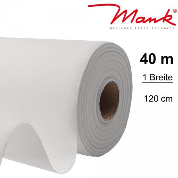 Partytischdecke.de | Tischdecke Mank Linclass 1,20 x 40 m weiss