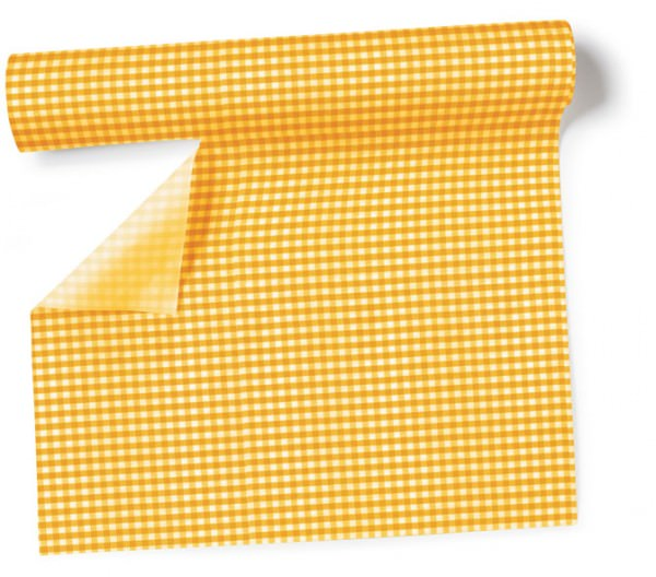 Partytischdecke.de | Tischläufer 40 cm x 3,60 m Vichy yellow