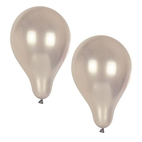 Partytischdecke.de | Luftballons Ø 25 cm silber 10 Stück