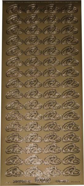 Stickerbogen Ringe gold 1 Stück