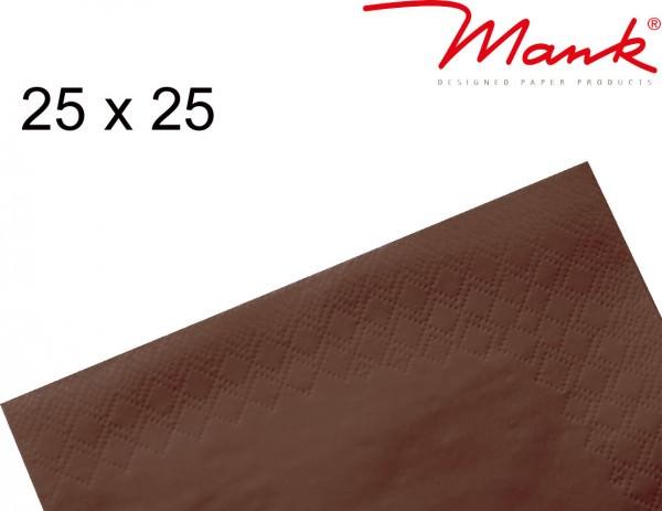 Partytischdecke.de | Serviette Mank 25x25 Tissue braun