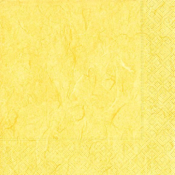 Servietten 25x25 Pure yellow 20 Stück