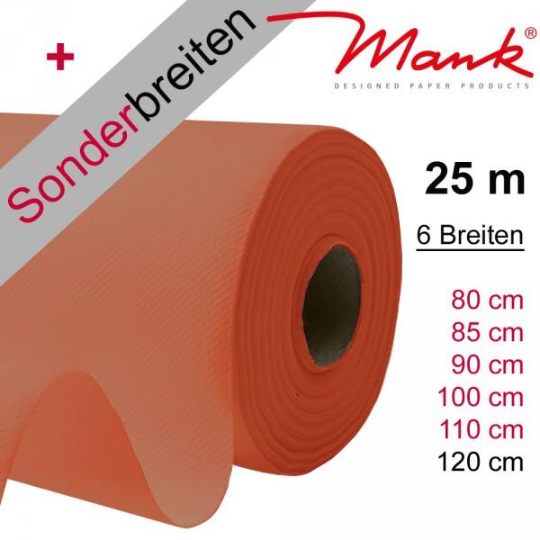 Partytischdecke.de | Tischdecke Mank Linclass terracotta 25 m x Breite