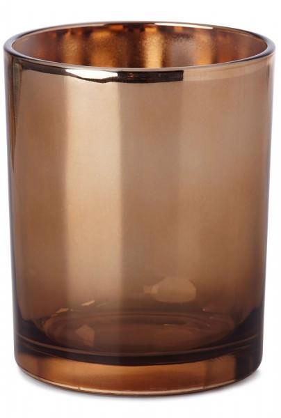 Partytischdecke.de | Kerzenhalter Glow Rose-Gold Ø 85x120 mm 6 Stück