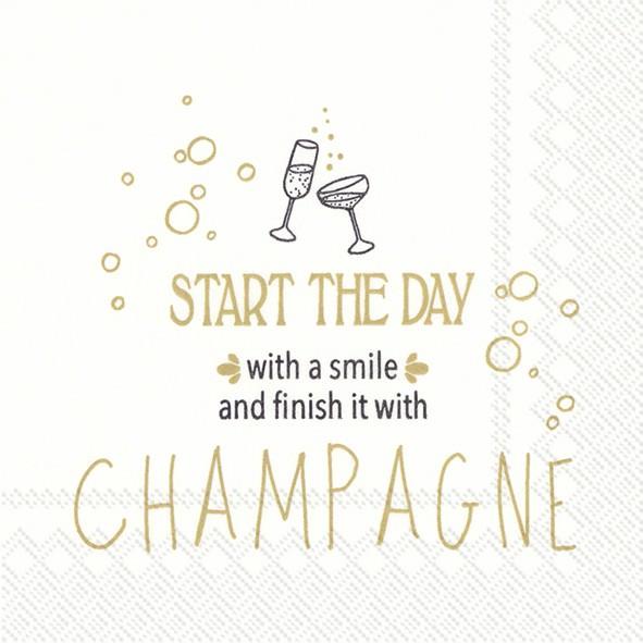 Partytischdecke.de | IHR Cocktail Serviette START THE DAY WITH A SMILE 09