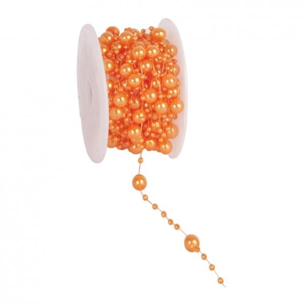 Partytischdecke.de | Perlenband 8 mm x 10 m apricot 1 Rolle