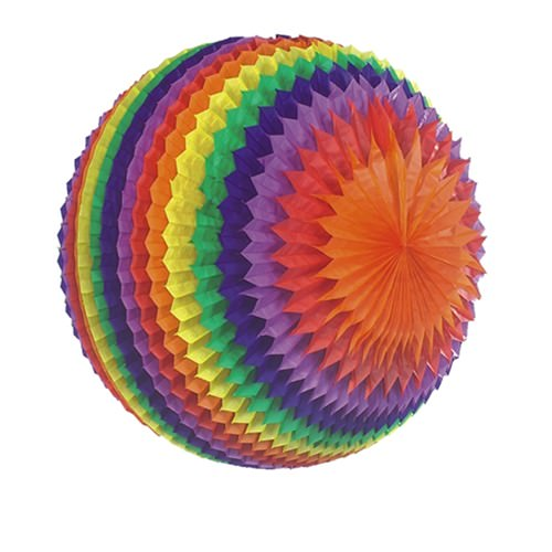 Wabenball aus Papier Ø 50 Regenbogen schwer entflammbar 1 Stück