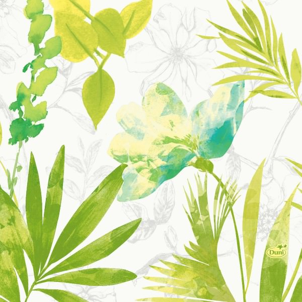 Partytischdecke.de | Duni Serviette Tissue 33x33 Summertime Blue