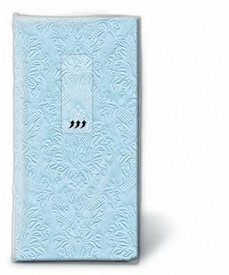Motiv Taschentücher Päckchen Moments ornament pastellblau 10 Stück