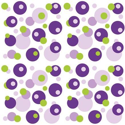 Partytischdecke.de | Servietten Sovie Home 40x40 Bubbles violett-grün 12 Stück