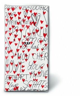 Motiv Taschentücher Päckchen Amore Infinito 10 Stück
