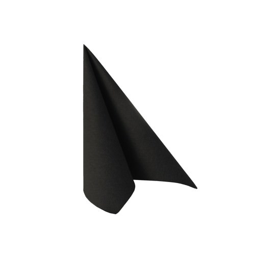 Partytischdecke.de | Serviette 25x25 Royal schwarz 20 Stück