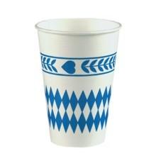 Partytischdecke.de | Trinkbecher Pappe 0,2 l  Bayerisch Blau 10 Stück