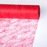 Partytischdecke.de   Sizoflor® Wave Tischband hellrot 17 cm x 25 m