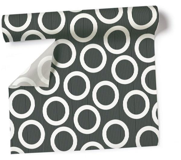 Partytischdecke.de | Tischdecke 1,2 x 5 m Circle black