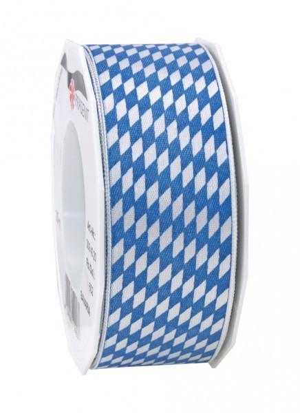 Partytischdecke.de | Band BAVARIA weiss-blau 40-mm x 20-m-Rolle