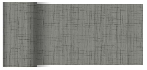 Partytischdecke.de | Tischläufer 15 cm x 20 m Dunicel Linnea granite grey