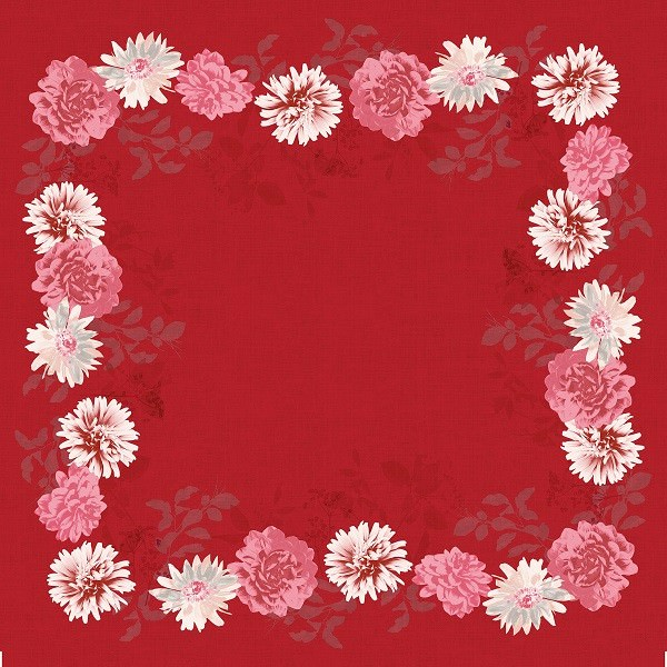 Partytischdecke.de | Mitteldecke 84 x 84 cm Duni Dunicel Autumn Floral 20 Stück