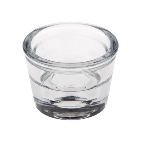 Partytischdecke.de | Kerzenhalter, Glas Ø 6 x 4,5 cm Two-in-One 1 Stück