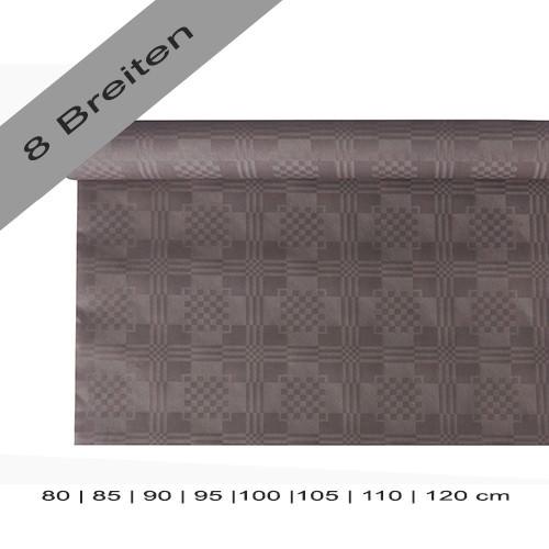 Partytischdecke.de | Papiertischdecke Damastprägung 6 lfm grau