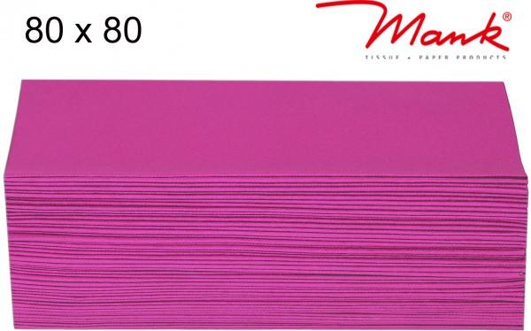 Partytischdecke.de | Mitteldecke 80 x 80 cm Mank Linclass fuchsia