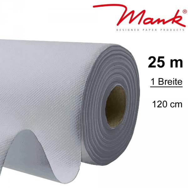 Partytischdecke.de | Tischdecke Mank Linclass 1,20 x 25 m silber