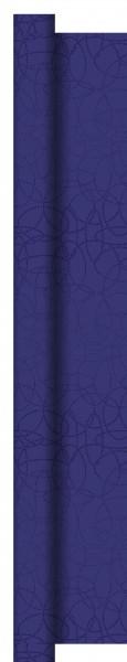 Partytischdecke.de   Tischdecke 1,20 m x 25 m Dunisilk+ Circuits dunkelblau