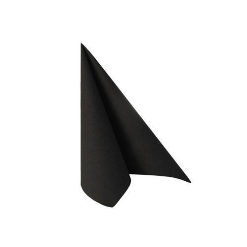 Partytischdecke.de   Serviette 25x25 Royal schwarz 50 Stück