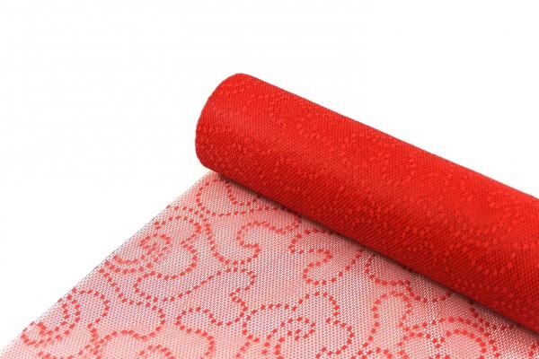 Sizolace Flock rot Vorteils-Rolle 30 cm x 25 m