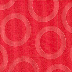 Partytischdecke.de | Servietten 33x33 Circle red 20 Stück