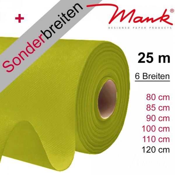 Partytischdecke.de | Tischdecke Mank Linclass kiwi 25 m x Breite