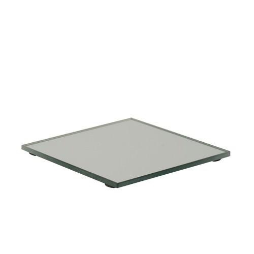 Partytischdecke.de | Spiegelteller Glas Eckig 100 x 100 mm 1 Stück
