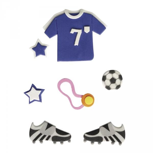 deko haftsticker fussball spieler blau 7 teilig in riesiger auswahl von rayher hobby gmbh. Black Bedroom Furniture Sets. Home Design Ideas
