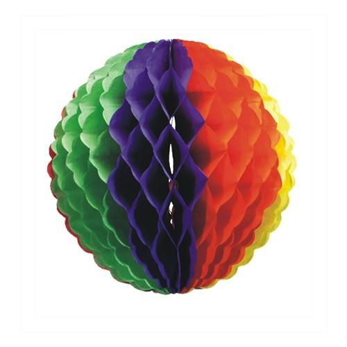Wabenball aus Papier Ø 32 Regenbogen schwer entflammbar 1 Stück