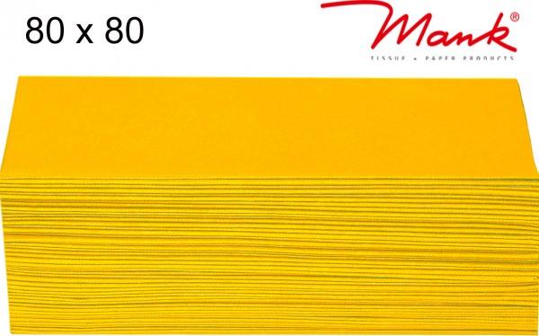Partytischdecke.de | Mitteldecke 80 x 80 cm Mank Linclass gelb