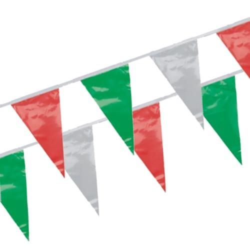 Partytischdecke.de | Wimpelkette 4 m grün-weiss-rot 1 Stück