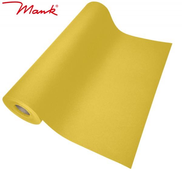 Partytischdecke.de | Tischläufer Mank Linclass 40 cm x 24 m gelb