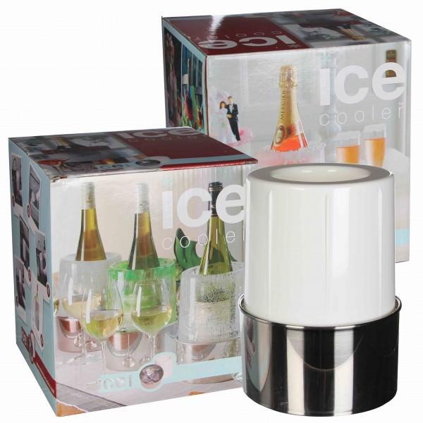 Partytischdecke.de   Eiskühler mit Auffangschale Ø 16 x 15 cm 1 Stück