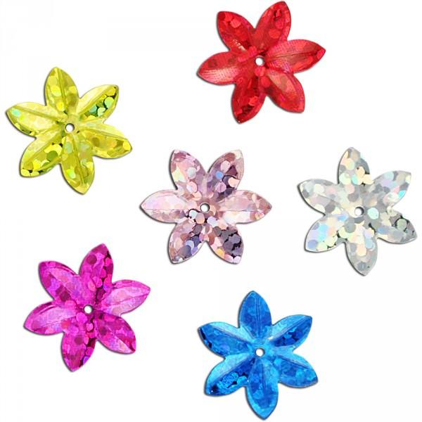 Deko-Blüten bunt/glitter gemischt 20g