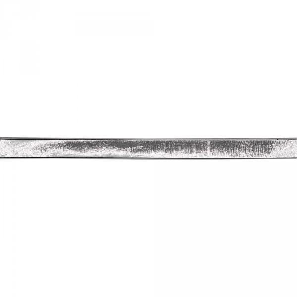 Verzierwachsstreifen Flach 20 cm x 4 mm silber 4 Stück