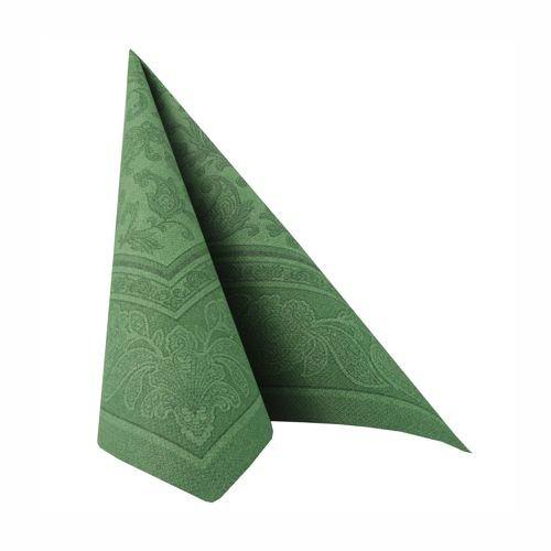 Partytischdecke.de | 50 Servietten 40x40 Royal dunkelgrün ornament