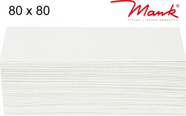 Partytischdecke.de | Mitteldecke 80 x 80 cm Mank Linclass weiss