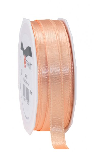 Satin Premium Band 25 mm x 25 m apricot 1 Rolle