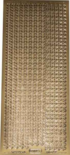 Stickerbogen Herzchen gold 1 Stück