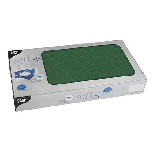Partytischdecke.de | Mitteldecken Soft Selection Plus 80 x 80 cm dunkelgrün